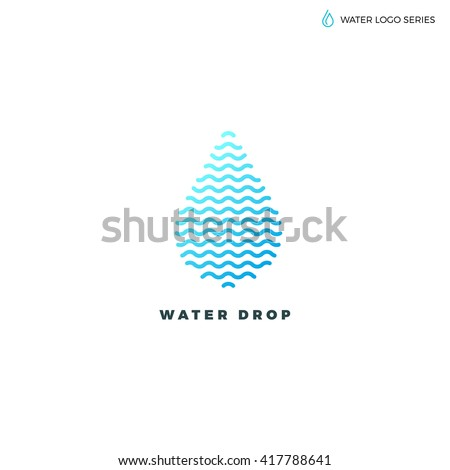 water logo blue water logo