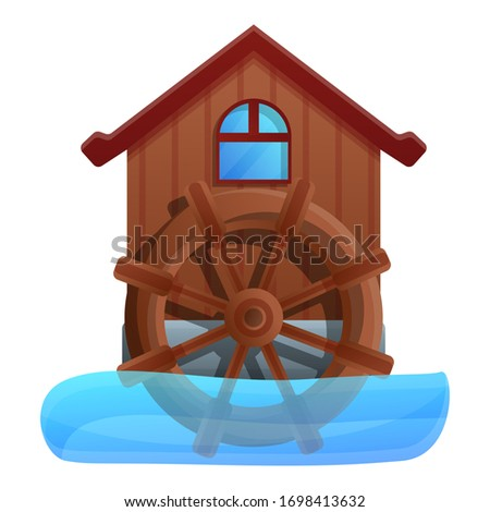 water mill icon cartoon of