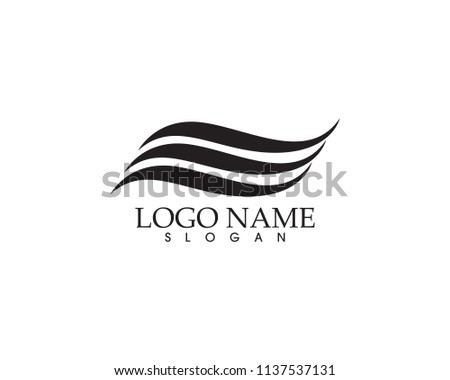 Water nature logo symbols template icons app
