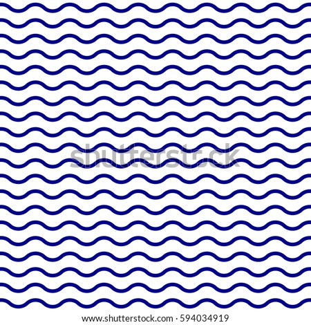 Water or Wave pattern. Seamless water texture. Wavy lines background. Vector illustration.
