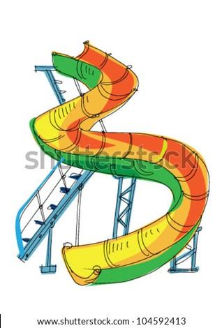Playground Slide Tattoo