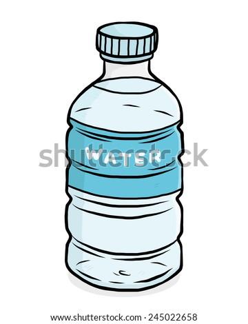 water plastic bottle   cartoon