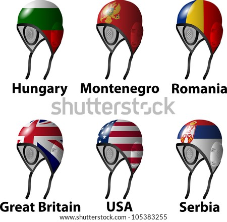 Water Polo draw Group B - stock vector