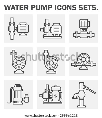 water pump icons sets