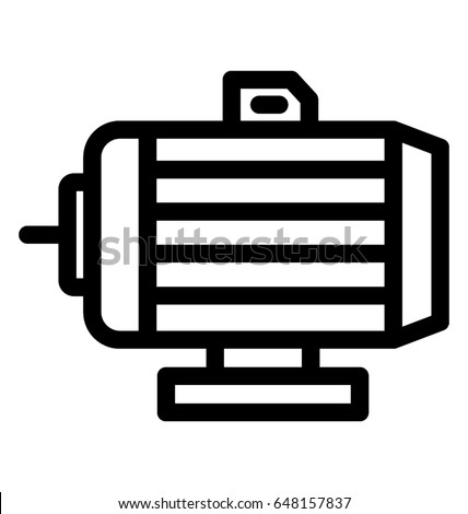 Water Pump Line Vector Icon