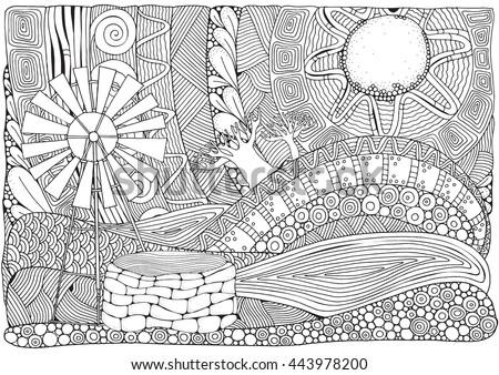 Color the Hoover Dam | Worksheet | Education.com | 338x450