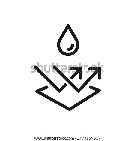 Water repellent surface line icon. Waterproof symbol concept isolated on white background. Vector illustration ストックフォト ©