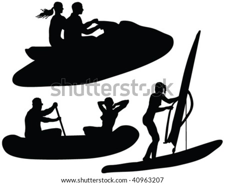 water rides fun silhouettes