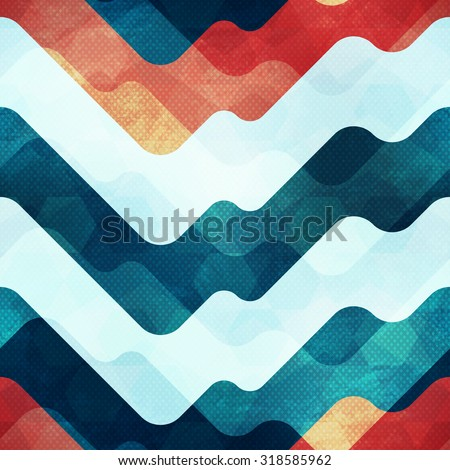 water seamless pattern with