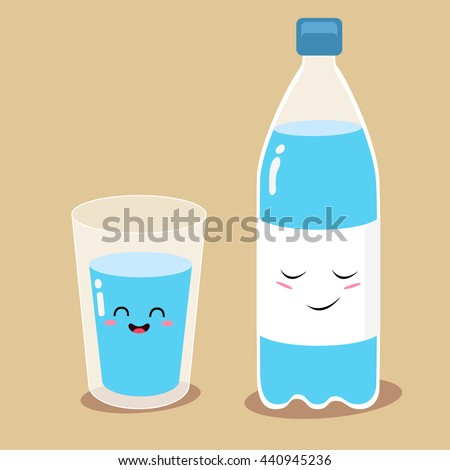 water set funny bottle of