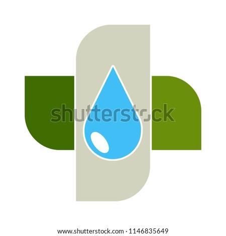 water splash, drops, ocean or sea water, waterfall. nature icon - clean environment symbol