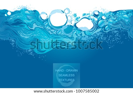 water splash in blue color