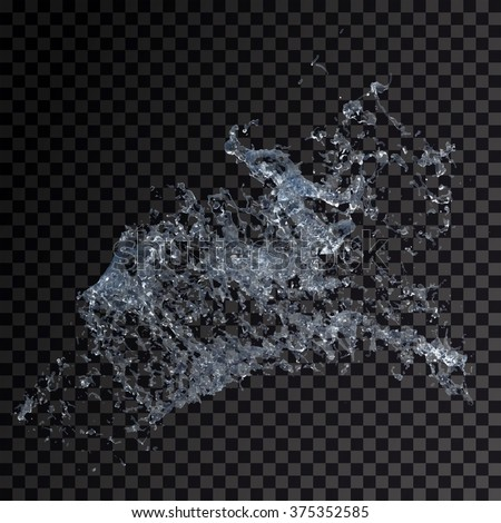 Water splash isolated , spray , wave , vector illustration