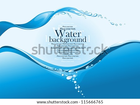 Water splash. (vector illustration)