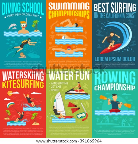 water sport poster collection