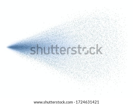 Water spray effect isolated on white background. Realistic fountain, air freshener, shower splash pattern. Vector mist or water particles stream template