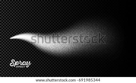 Water spray mist effect on transparent background. Vector illustration.