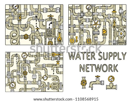 water supply networks set....