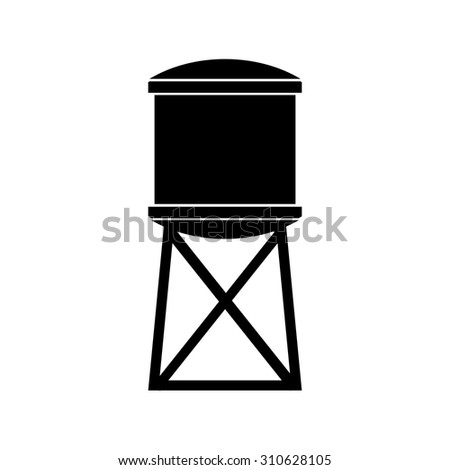 water tank vector illustration