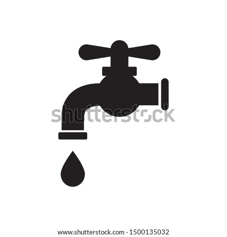 water tap icon vector illustration logo template Photo stock ©