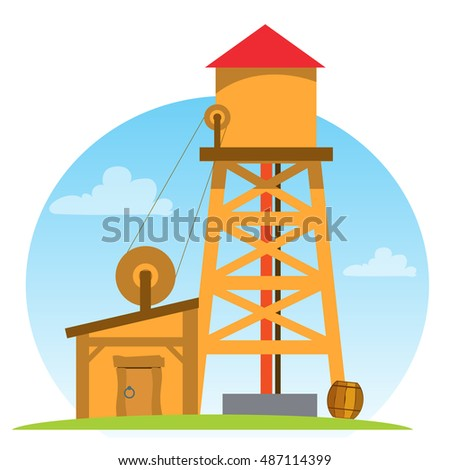 water tower. vintage structures....