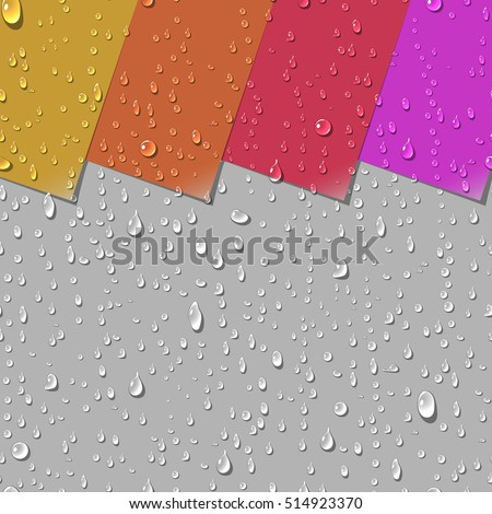 water transparent drops