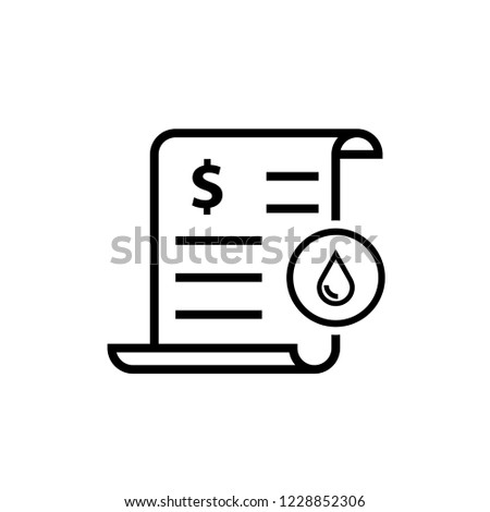 Water utility bill icon. Clipart image isolated on white background