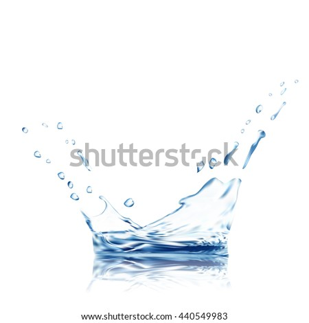 water vector blue water splash