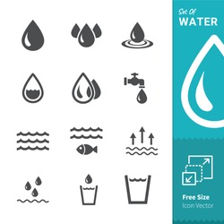 Water Vector Icon