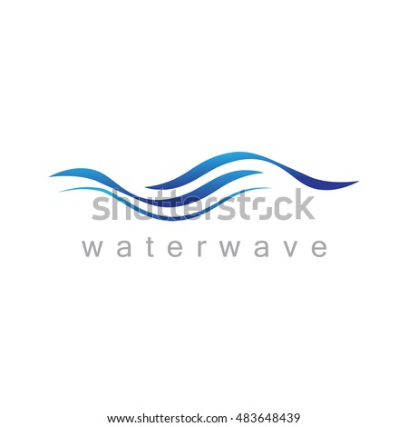 water wave icon   isolated on