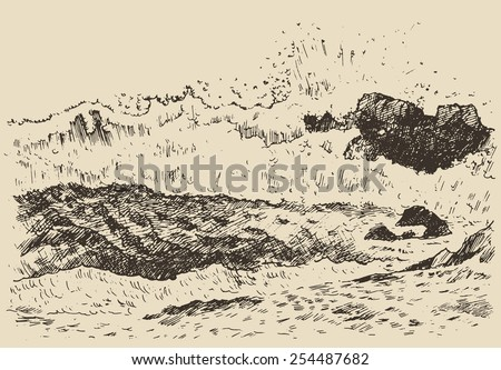 water wave in the sea  vintage...