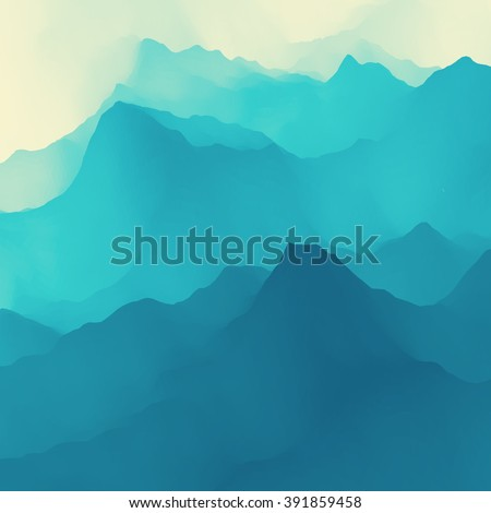 Water Wave. Water Surface. Nature background. Modern pattern. Vector Illustration For Your Design. Flowing Background With Halftone. #391859458