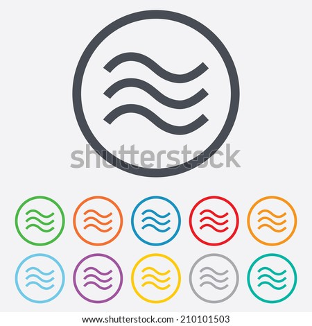 water waves sign icon flood