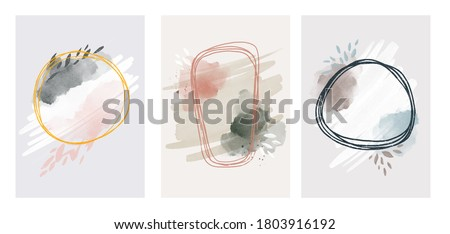 watercolor abstract art background . Abstract design with doodles and various shapes. modern art isolated vector graphic. minimalistic geometric frames hand painted, vector illustration hand drawn