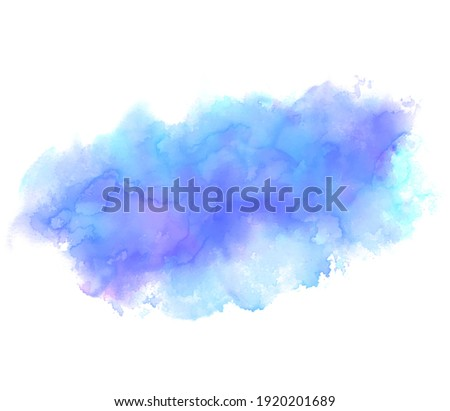 Watercolor alcohol ink colorful liquid vector drop splash design, artistic background. Blue violet color paper card, grunge texture wallpaper, abstract drawing banner