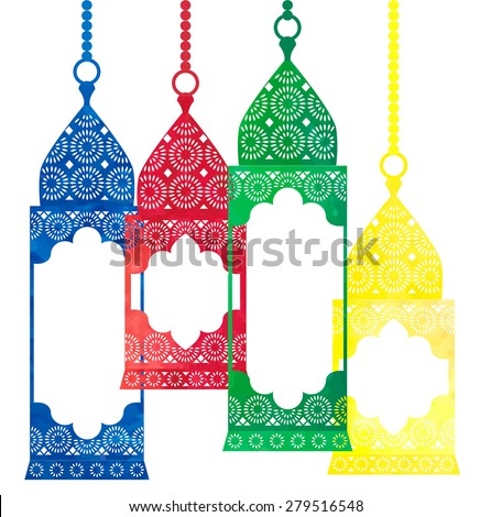 watercolor arabic lantern