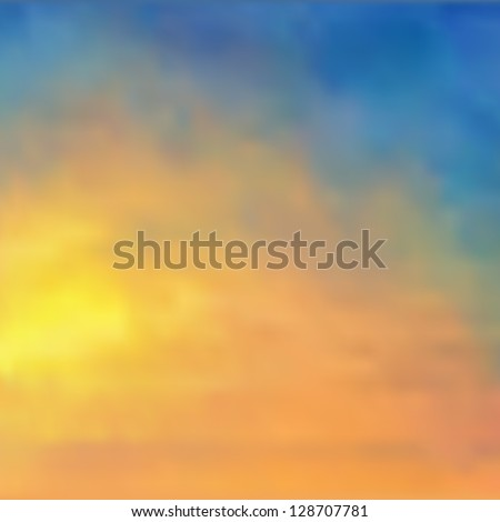 watercolor background sunset