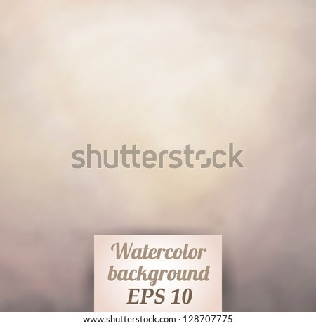 Watercolor background - vector illustration.