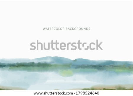 watercolor background  wide