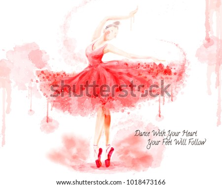 watercolor ballet dancer