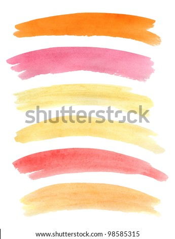Watercolor banners. Vector illustration