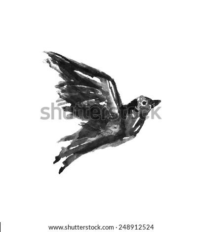 watercolor bird drawing bird