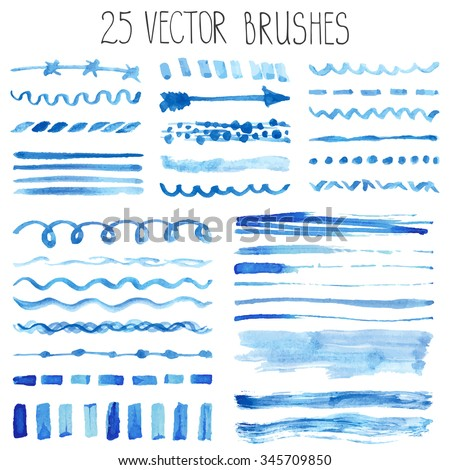 watercolor brushes hand