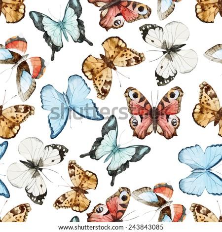 watercolor, butterfly, wallpaper,