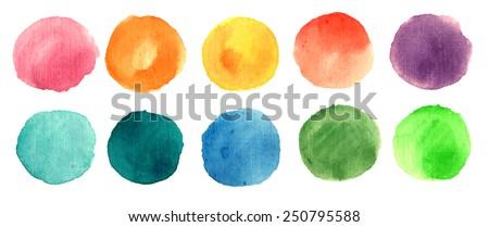 watercolor circle texture