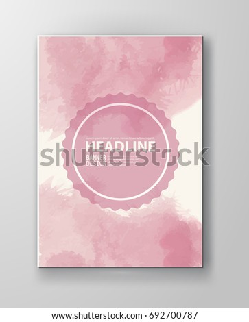 Watercolor color design banner . Vector illustration