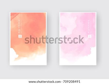 watercolor color design banners