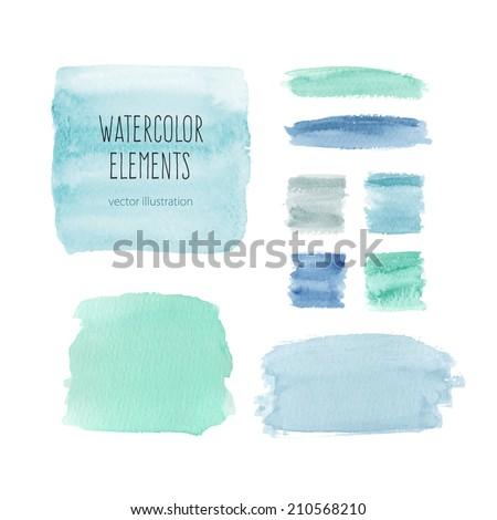 watercolor elements for design