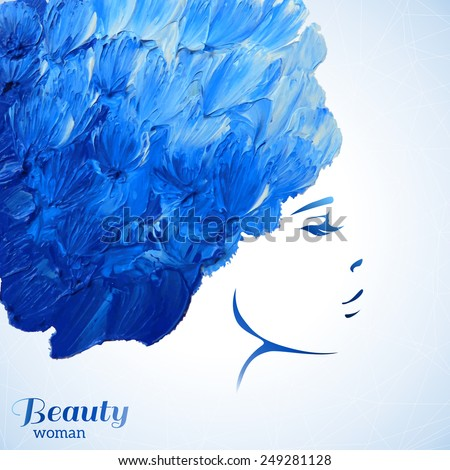 watercolor fashion woman with