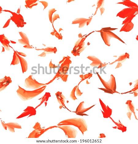 watercolor fish seamless